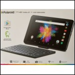 "Polaroid 7"" HD Tablet+ keyboard Android"